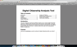 Digital Citizenship Analysis Tool